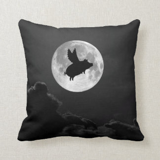 travesseiro do porco do vôo da Lua cheia Almofada