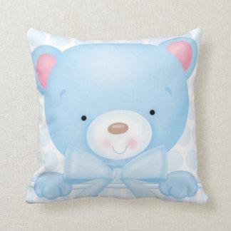 Travesseiro do quadrado do urso do bebé almofada