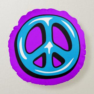 Travesseiro do sinal de paz almofada redonda