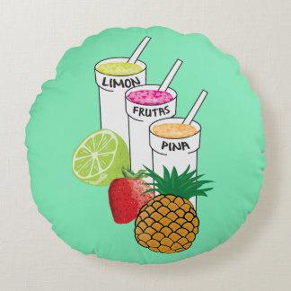Travesseiro do smoothie da fruta do verão almofada redonda