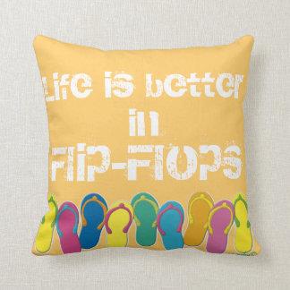 Travesseiro dos flip-flops