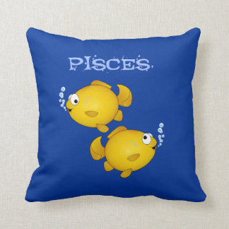 Travesseiro dos peixes dos desenhos animados dos