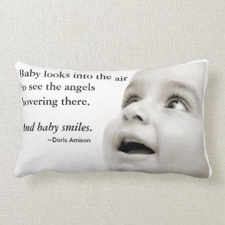 Travesseiro dos sorrisos do bebê almofada lombar