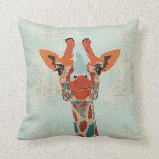 Travesseiro espreitando ambarino de MoJo do girafa