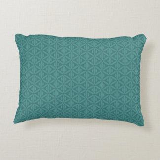 Travesseiro esverdeado azulado do acento do verde almofada decorativa
