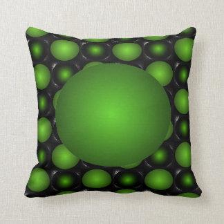 Travesseiro esverdeado da bola do verde do design