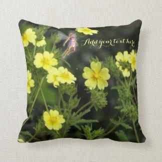 Travesseiro feericamente do jardim do verão almofada