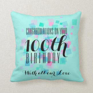 Travesseiro feito sob encomenda do 100th almofada