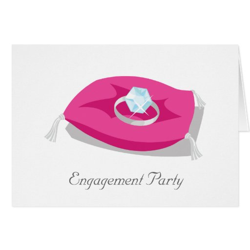 travesseiro, festa de noivado cartão