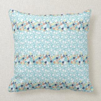 travesseiro floral azul almofada