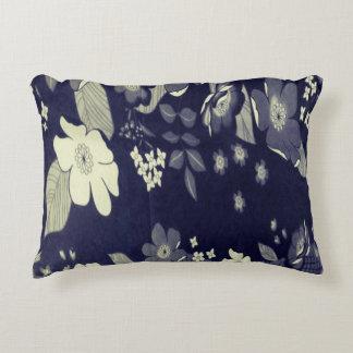 Travesseiro floral bonito azul escuro almofada decorativa