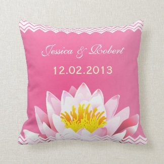 Travesseiro floral chique elegante da lembrança do