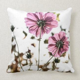 Travesseiro floral cor-de-rosa almofada
