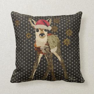 Travesseiro floral de MoJo do Natal das estrelas d