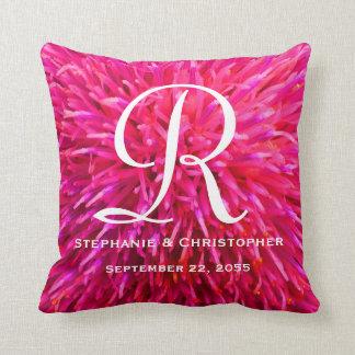 Travesseiro floral do monograma e do abstrato do almofada