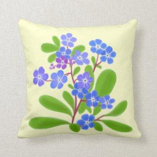 Travesseiro floral dos miosótis