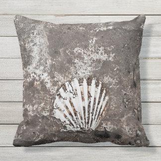 Travesseiro fóssil de Shell de Scallop Almofada