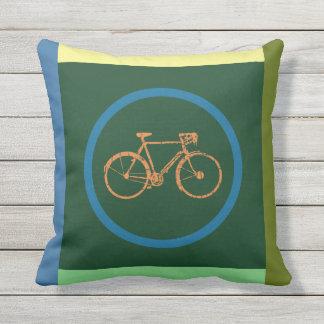 travesseiro geométrico da bicicleta da cor
