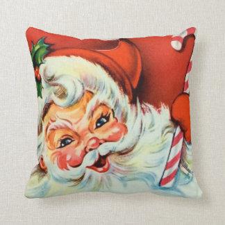 Travesseiro home retro da decoração do papai noel almofada
