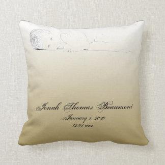 Travesseiro infantil da lembrança do bebê do almofada