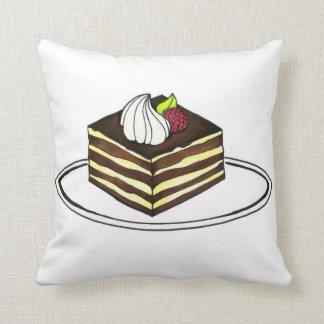 Travesseiro italiano de Foodie da fatia do bolo da Almofada