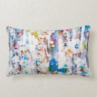 Travesseiro lombar com respingo das cores almofada lombar