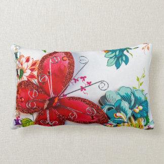 Travesseiro lombar da borboleta vermelha almofada lombar