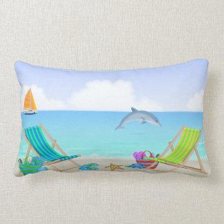 Travesseiro lombar de relaxamento da praia almofada lombar