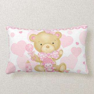 Travesseiro lombar do urso do bebé almofada lombar