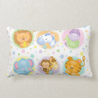 Travesseiro lombar dos bebês do safari almofada lombar