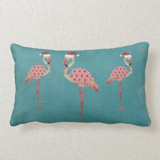 Travesseiro lombar dos flamingos festivos