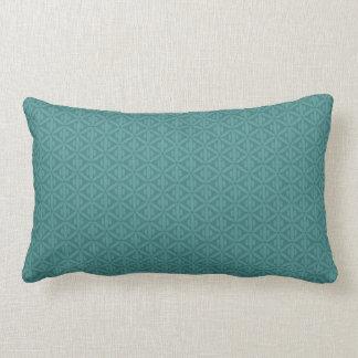 Travesseiro lombar esverdeado azulado do verde da