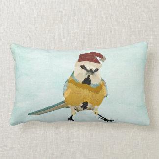 Travesseiro lombar festivo do pássaro pequeno