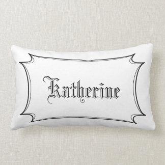 Travesseiro lombar personalizado caligrafia
