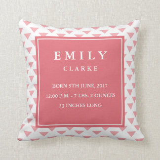 Travesseiro moderno do anúncio do nascimento do almofada