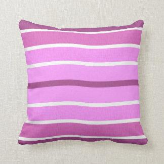 Travesseiro ondulado roxo branco cor-de-rosa das almofada