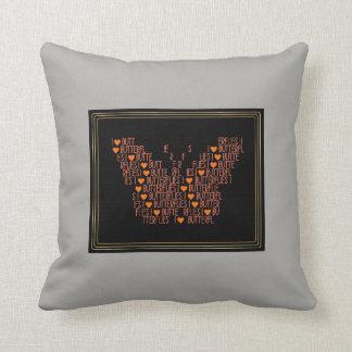 Travesseiro original do quadrado das borboletas do almofada