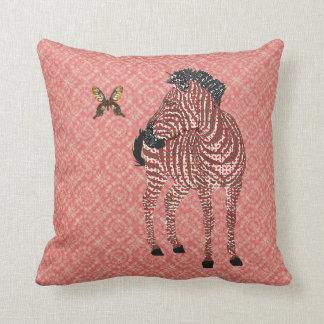 Travesseiro ornamentado vermelho de Mojo da borbol