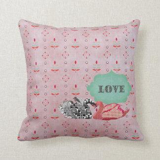 Travesseiro ostentoso de MoJo do rosa do amor da c