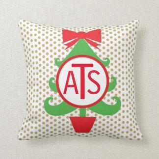 Travesseiro personalizado da árvore de Natal Almofada