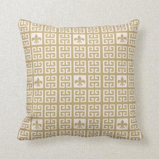 Travesseiro personalizado da flor de lis do ouro c
