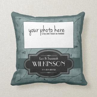 Travesseiro personalizado da lembrança do casament