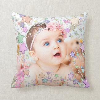 Travesseiro personalizado do bebê foto estrelado almofada