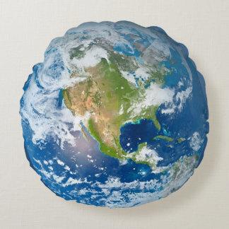 Travesseiro redondo da terra do planeta do almofada redonda
