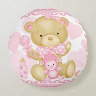 Travesseiro redondo do urso do bebé almofada redonda