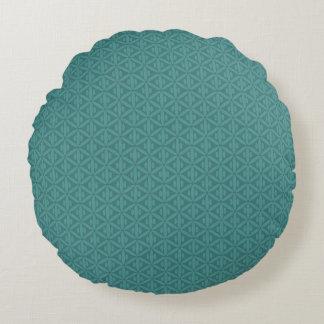 Travesseiro redondo esverdeado azulado do verde da almofada redonda