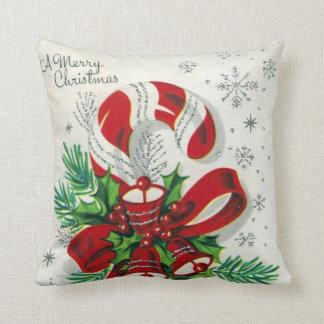 Travesseiro retro da decoração do bastão de doces almofada