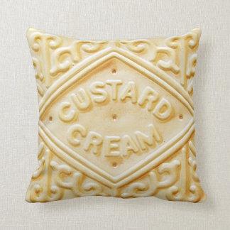 travesseiro retro de creme do coxim do biscoito do almofada