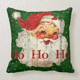 Travesseiro retro de Papai Noel do vintage Ho Ho Almofada