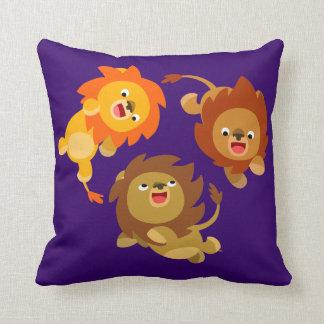 Travesseiro sem peso bonito dos leões dos desenhos almofada